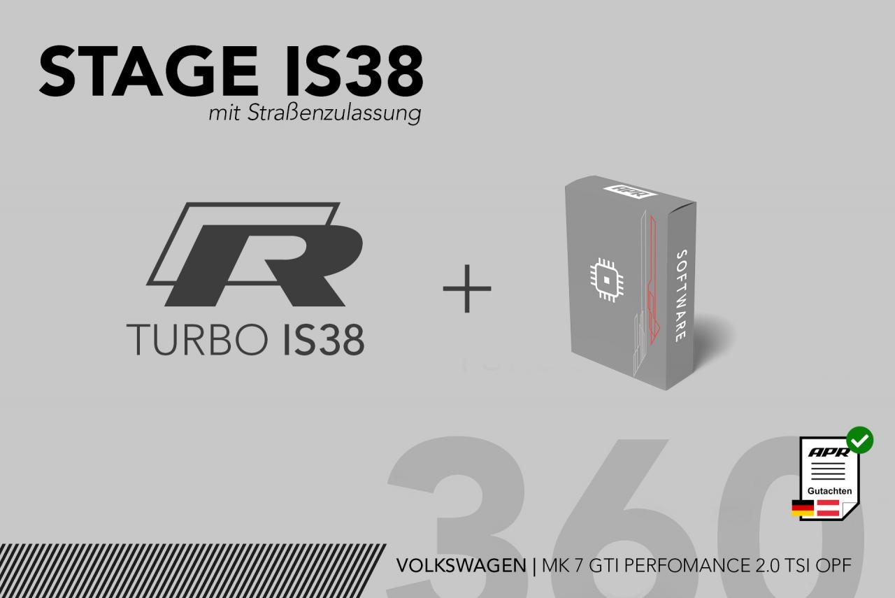 BUNDLE Stage IS38 MK7 GTI Performance 2.0 TSI OPF